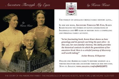 New book about Ingersoll family by Karen Kiaer
